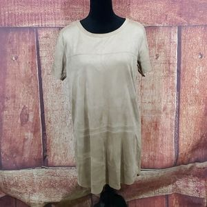 Olivaceous suede like dress